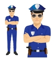 Handsome middle-aged police officer vector image