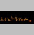 lima light streak skyline vector image vector image