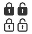 lock icon padlock unlock password for closed vector image
