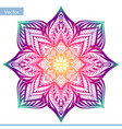 mandala round ornament pattern vintage vector image vector image
