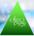 merry christmas winter card with snowflakes vector image vector image