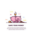money saving banner vector image vector image
