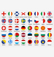 national flags european countries with captions vector image vector image