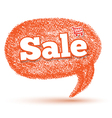 Oval sale speech bubble vector image