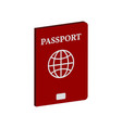 passport symbol flat isometric icon or logo 3d vector image