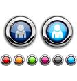 Person button vector image vector image
