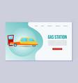 petrol gas station auto service web vector image