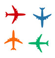 plane icons solid color vector image