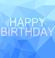 Poly birthday card vector image vector image