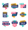 promo badges offers big discount labels for vector image vector image