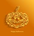 pumpkin flat vampire vector image vector image