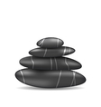 Pyramid zen spa stones isolated on white vector image