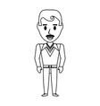 retro man cartoon vector image vector image