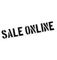 Sale Online black rubber stamp on white vector image vector image