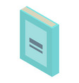 school book icon isometric style vector image vector image