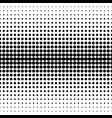 seamless pattern circles halftone transition vector image