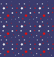 seamless pattern in american national colors vector image vector image