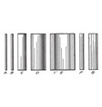 series of cylinder line shading three-dimensional vector image vector image