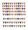 set multicolored flags with various geometric vector image vector image