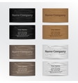 Set of Business Cards with Wood Texture vector image vector image