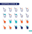 set of shopping cart icons for web vector image vector image