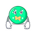 silent circle mascot cartoon style vector image vector image