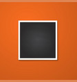 square frame isolated on red vector image vector image