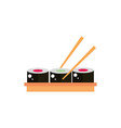 sushi food with sticks culture traditional japan vector image