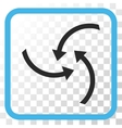 Swirl Arrows Icon In a Frame vector image