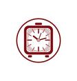 Time conceptual stylish icon simple desk clock vector image vector image