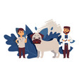 veterinary clinic for dogs doctor in uniform vector image
