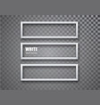 white frame horizontal mockup template isolated on vector image vector image