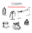 winter holiday set merry christmas decoration vector image vector image
