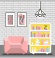 with armchair luminaire lamp vector image vector image