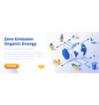 zero emission - banner layout template for website vector image vector image