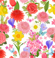 colorful floral design on white background vector image