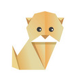 cute origami dog vector image