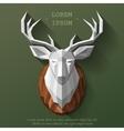 poly deer head vector image