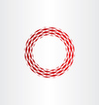 abstract circle frame red background element vector image