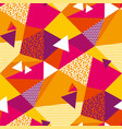 abstract geometric shapes color seamless pattern vector image vector image