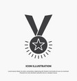 award honor medal rank reputation ribbon icon vector image vector image