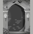 black and white wall alcove vector image vector image