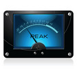 blue analog meter vector image vector image