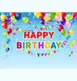 blue birthday card vector image vector image