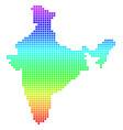 bright dot india map vector image vector image