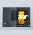 brochure template layout design yellow grey