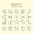 Business Linear Icons Collection vector image vector image