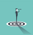 businessman standing on target vector image vector image