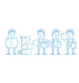 character delivery man with cardboard box vector image vector image
