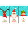 cheerful santa claus christmas deer baelf vector image vector image